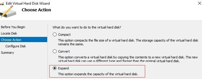 expand vhdx file on windows hyper-v host