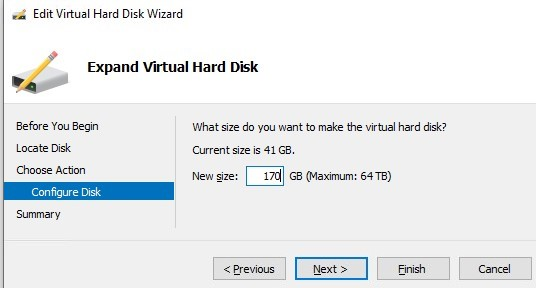 expand vhdx file set new size
