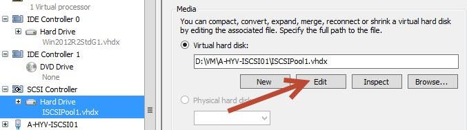 hyper-v 2012 r2 edit disk size