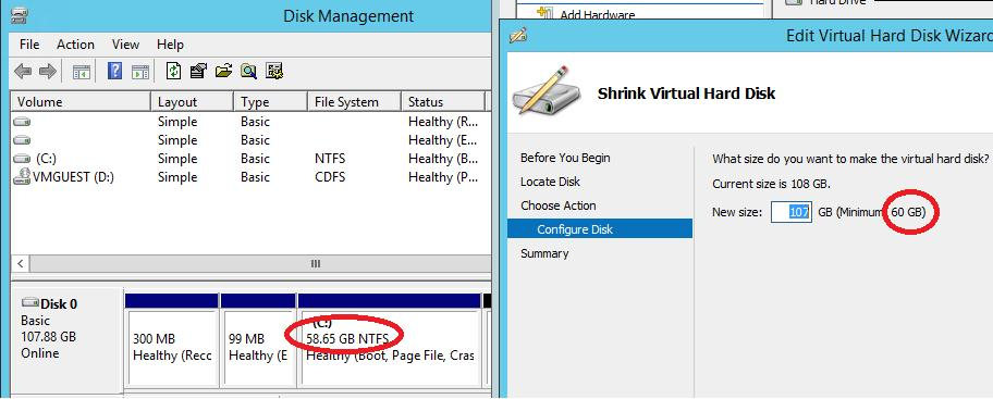 Online VHDX Resize windows server 2012 r2