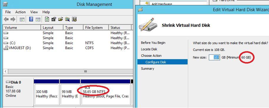 Online VHDX Resize windows server 2012 r2