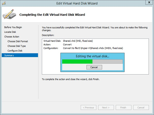 start convertation from vhd to vhdx