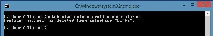 delete wifi profile in windows8