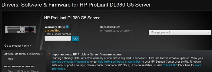 hp restrict access to ploliant firmware and PSP