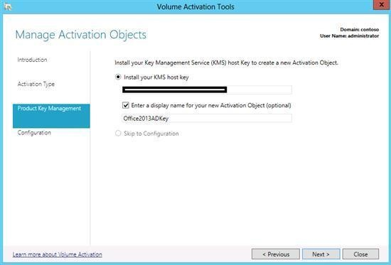entrer kms key for office 2013
