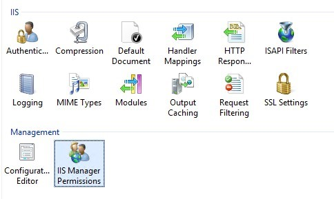 IIS Manager Permissions