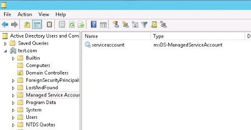 Active Directory OU -  Managed Service Accounts