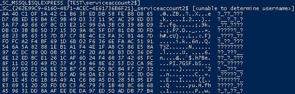 gsecdump can't get msa password