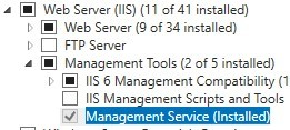 install Management Service tool