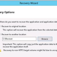 recover exchange 2013 to another folder