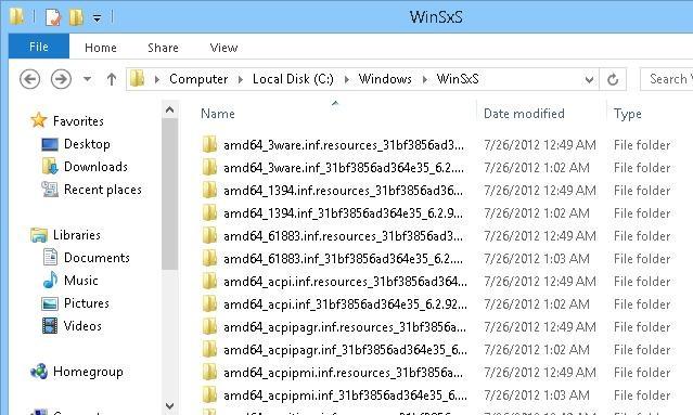 C: Windows Winsxs