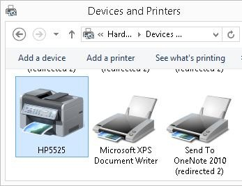 just installed printer apear in system