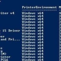 list installed print drivers with powershell
