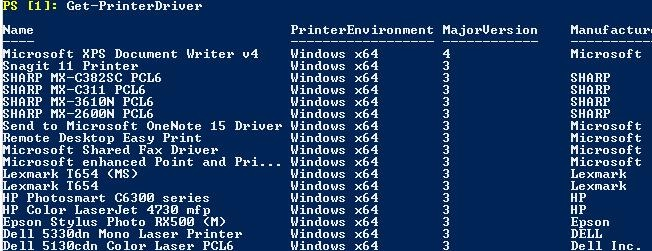 Managing Printers and Drivers with PowerShell in Windows 10