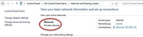 private network for remote hyperv managment