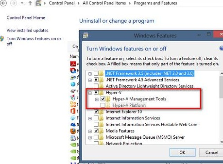 install hyper-v managment tools in windows 8