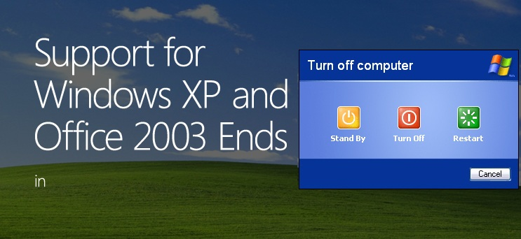 windows xp end of support 8th april 2014