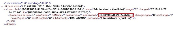 encrypted password stored in gpo xml file