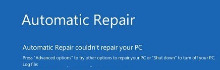 Automatic Repair Couldn't Repair Your PC