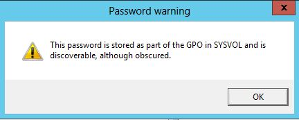 This password is stored as part of the GPO in SYSOL and is discoverable, although obscured.