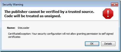 Java error: The publisher cannot be verified by a trusted source