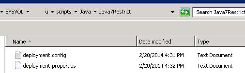 file deployment.properties : java config