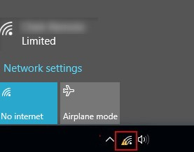 Limited access /No internet access in Windows 10 over Wi-Fi
