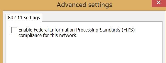 win10 wifi settings enable FIPS