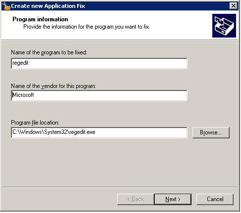 create new application fix