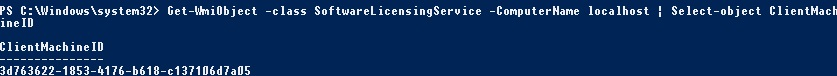 get kms client cmid using powershell