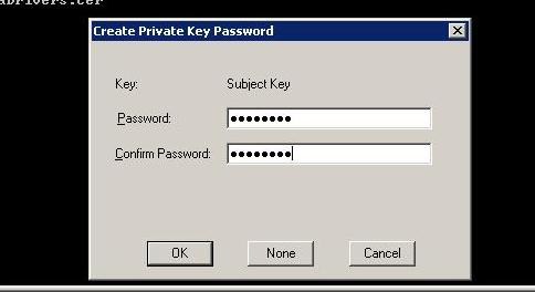 create private key password