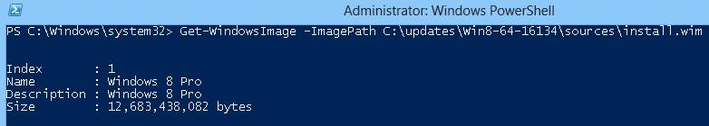get windows image index - powershell way