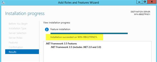 installation of dot net framework 35 failed