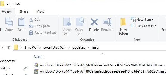 msu security updates for windows 10