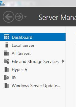 WSUS Management Console in Server Manager