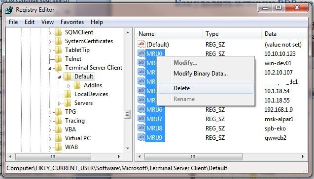 How to Clear RDP Connections History in Windows | Windows OS Hub