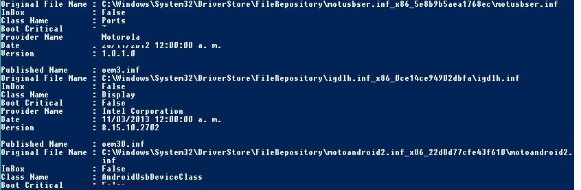 Export-WindowsDriver - Powershell cmdlet for export third parties drivers
