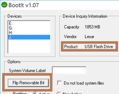 Removable USB Flash Drive as Local HDD in Windows 10 / 7