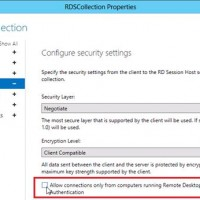 disable nla on windows server 2012 r2 RDS