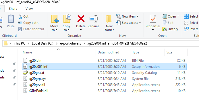 driver inf file