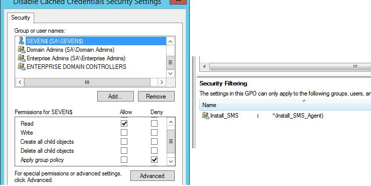 GPO Security Settings in AD