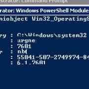 Simple WMI query: get-wmiobject Win32_OperatingSystem