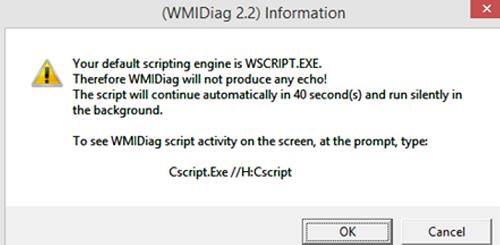 wmidiag.vbs version 2.2 - script to troubleshoot wmi errors