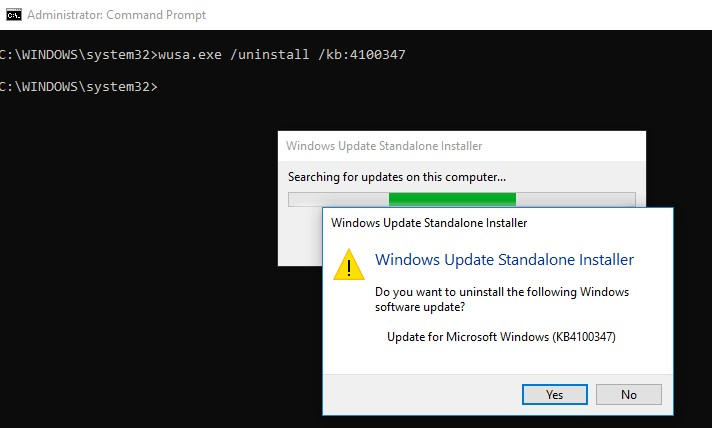 How to Remove Installed Updates in Windows 10 and Windows Server