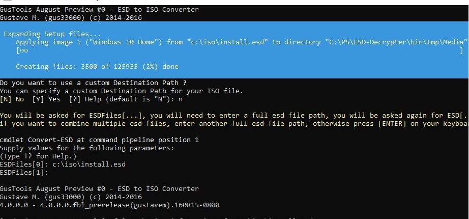 How to Convert Install ESD to the Bootable  ISO Image in Windows 10