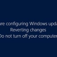 Failure configuring Windows updates. Reverting changes. Do not turn off your computer