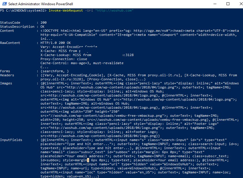 Invoke-WebRequest: Parsing HTML Webpages with Powershell
