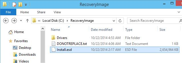 Windows 10 TP : C:\RecoveryImage\Install.esd