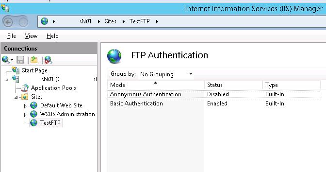 FTP Authentication