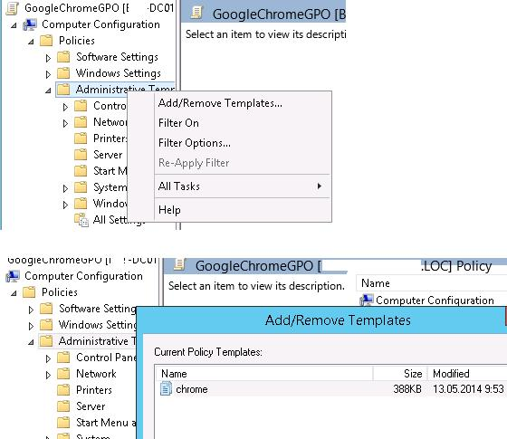 Add Chrome GPO templates to Group Policy